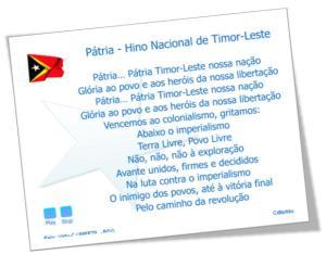 Patria – Patria – Hino Nacional de Timor-Leste-Download